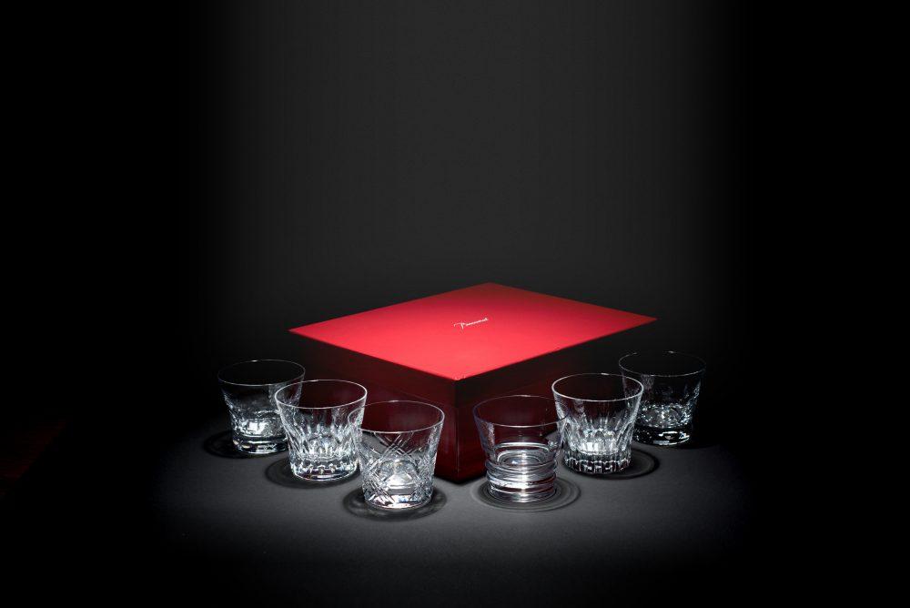 Set aus sechs Whiskeygläsern